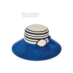 夏季韩版新款渡假草编帽 防晒遮阳黑色晚装帽 大檐沙滩太阳帽图片