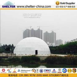 赛尔特圆形篷房,25米直径球形帐篷出租,半圆形欧式帐篷租赁图片
