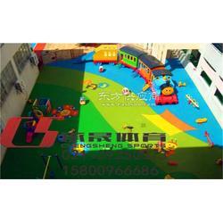 幼儿园塑胶地坪地基建设图片