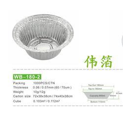 一次性煲仔饭碗 一次性铝箔盒 煲仔饭铝盒 蒸饭锡箔盒子图片