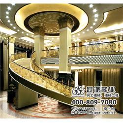 广州铜艺楼梯,冠派楼梯,广州铜艺楼梯订制图片