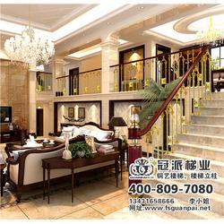 公寓铜艺楼梯、冠派楼梯(优质商家)、公寓铜艺楼梯哪家好图片