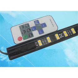 带遥控开光硬灯条 led黑色铝槽硬灯条 单排或双排贴片灯条图片