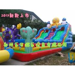 充气大滑梯室外 攀岩大滑梯 儿童充气城堡乐园 室外大型娱乐蹦床图片