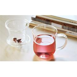 赣州双层玻璃杯|诗如意厂家礼品杯定制logo双层玻璃杯品茶杯图片