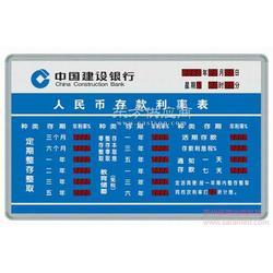 中国建行利率信息显示屏图片