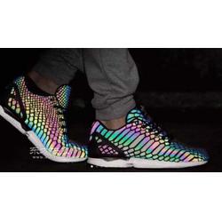鞋材幻彩反光膜 皮革幻彩反光膜 鞋类反光幻彩膜图片