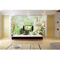 瓷砖雕花背景墙图片