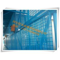 爬架网、旺业金属网、钢式穿孔钢板爬架网生产工艺图片
