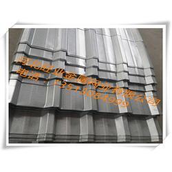 压型穿孔钢板-旺业金属网-0.8mm彩钢板压型穿孔钢板图片