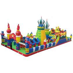 大风车游乐 充气城堡材质-充气城堡图片