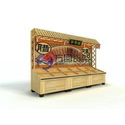 木制超市酱菜架_超市酱菜架_木制腌腊货架(多图)图片