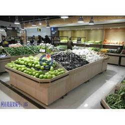 钢木果蔬货架,超市水果货架,钢木果蔬货架尺寸图片