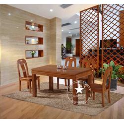 红河实木餐桌椅报价、恒岳家具、实用实木餐桌椅报价图片