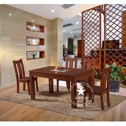 仿古实木餐桌椅|恒岳家具(已认证)|实木餐桌椅图片