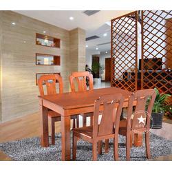 左右实木餐桌,迪庆实木餐桌,恒岳家具(多图)图片