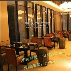 促销大芬仿木纹餐桌定做,福田咖啡厅沙发供应厂家图片