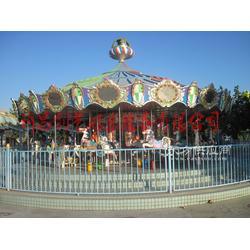 豪华转马16座动物转马公园儿童游乐设施厂家创艺游乐设备图片