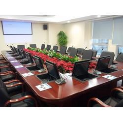 永安升降会议桌-格创智能升降会议桌-液晶屏升降会议桌图片