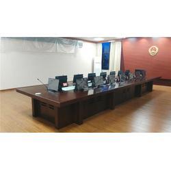 电脑升降会议桌 仙游升降会议桌 格创智能升降会议桌图片