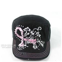 纯棉帽子定做 平顶棒球帽定做 撞色帽子休闲军帽短檐帽图片
