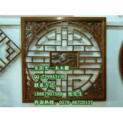 仿古门窗屏风、天津仿古门窗、一本木雕独具匠心(查看)图片