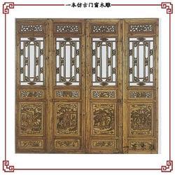 实木仿古门窗生产厂家-广东仿古门窗-一本木雕工艺精湛图片