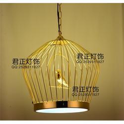 铁艺鸟笼灯、君正灯饰(在线咨询)、鸟笼灯图片