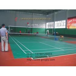 贺州室外PVC羽毛球场地胶铺设图片