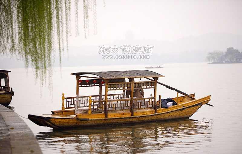 供应木顶单蓬船 旅游景点木船 公园休闲船 江南水乡传统木船价格