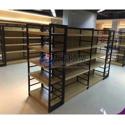超市木制货架进口食品、方圆货架(在线咨询)、超市木制货架图片