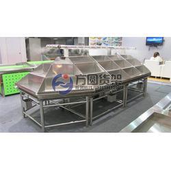 不锈钢水果货架生产厂家 不锈钢水果货架 泰安方圆货架