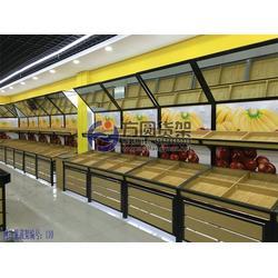 钢木水果货架、钢木水果货架定做、超市蔬菜货架(优质商家)图片