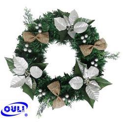 欧力工艺品品牌企业 圣诞花环生产-黑龙江圣诞花环图片