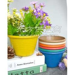 厂家直销绿植盆栽盆家庭园艺盆阳台种菜必备绿缘锦植物纤维花盆图片