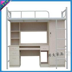 供應 上床下桌學生公寓床 組合床帶書桌衣柜鐵床雙層床圖片