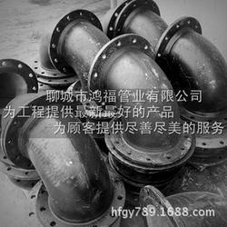 铸铁法兰弯头_鸿福管业(图)_消防铸铁弯头图片