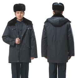 保安服装、保安服装图、时尚德资防寒保安棉大衣(认证商家)图片