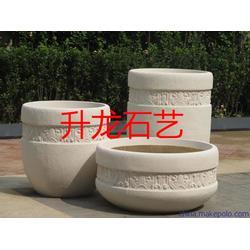 莱州升龙石艺(图),石材花盆风水球,花盆图片