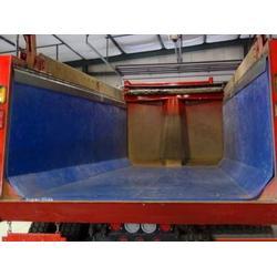 拉土方汽车粘土在货厢卸不下怎么,粘土用泰达橡塑车厢滑板(图)图片