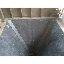 黏性湿料粉料粘卸料口堵塞怎么办_卸料口堵塞用泰达料仓防堵滑板图片