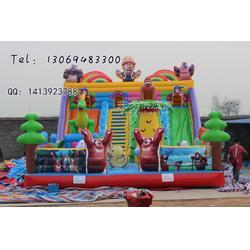 熊出没84平充气滑梯城堡儿童大型充气 水上乐园图片
