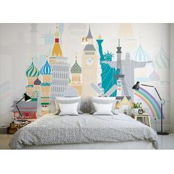 希尔顿酒店装修壁纸 客房走道墙纸 卧室餐厅软包3D壁画厂家图片
