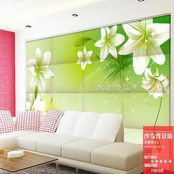 酒店艺术软包壁画公司 卧室床头壁画软包 餐厅背景硬包墙画图片