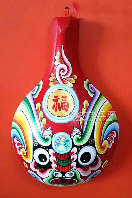 民间手工艺品彩绘马勺脸谱挂件图片