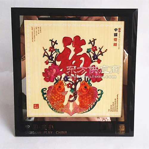 特色民间工艺中国剪纸镜框皮影装饰摆件皮影戏