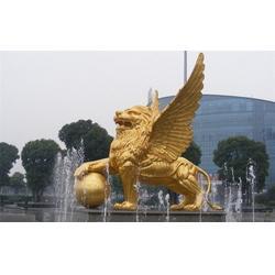 镇宅铜狮子|河北恒保发铜雕厂|公司门口镇宅铜狮子图片