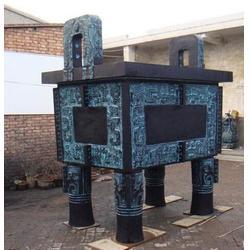 青铜鼎-铜鼎厂家支持定制-2.8米青铜鼎雕塑图片