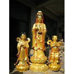 2米铸铜观音佛像-唐县铜雕佛像厂-铜观音图片