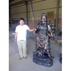铸铜关公厂家(图)-1.8九龙铜关公销售-梅州九龙铜关公图片
